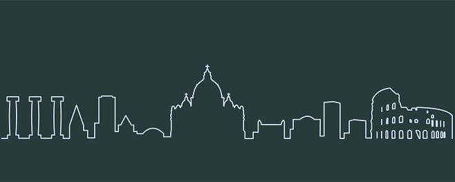 Rome Single Line Skyline