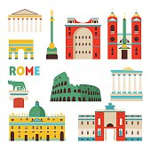 Rome skyline. Vector illustration