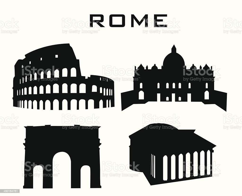 rome vector art illustration