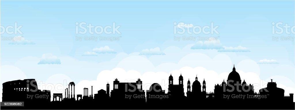 Roma (todos os edifícios são móveis e completa) - ilustração de arte em vetor