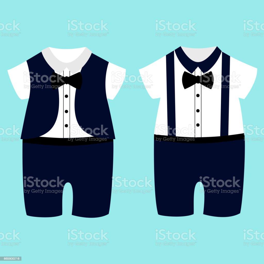 0291794be Romper Suit Childrens Tuxedo stock vector art 865900216