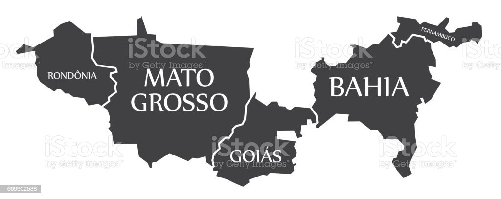 Resultado de imagem para Mapa dos estados da bahia, goias e mato grosso