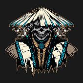 istock ronin skull in hat illustration 1174810177