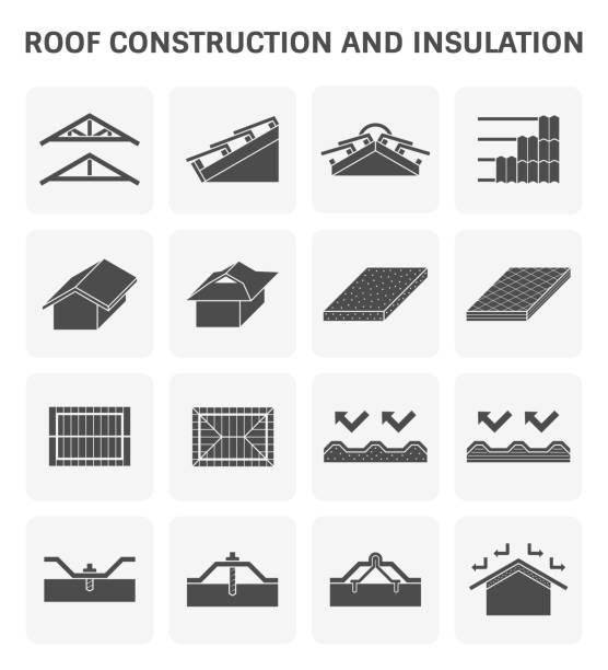dach-bau-symbol - dachboden stock-grafiken, -clipart, -cartoons und -symbole