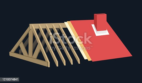 istock Roof Parts Vector Illustration 1210074841