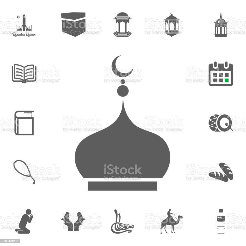 Roof top of mosque icon. Ramadan Kareem. Eid Mubarak vector illustration icons set. - Royalty-free Allah stock vector