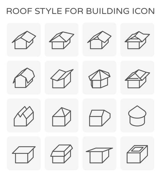 dach-typ-icon - dachzelt stock-grafiken, -clipart, -cartoons und -symbole