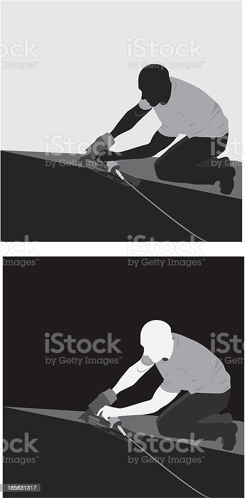Roofer royalty-free stock vector art