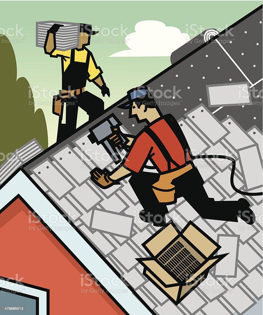 Roofers C vector art illustration