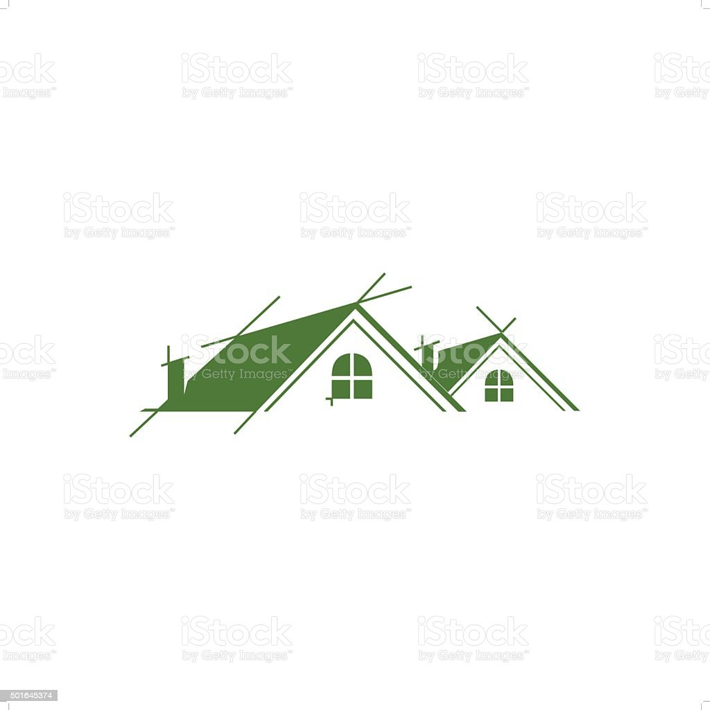 Roofing vector art illustration