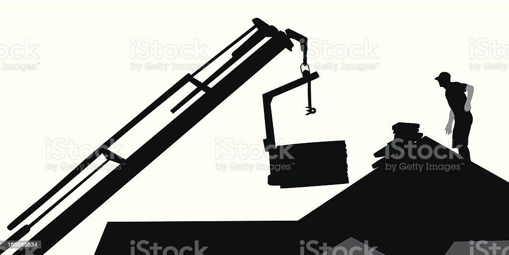 Roofing Vector Silhouette vector art illustration