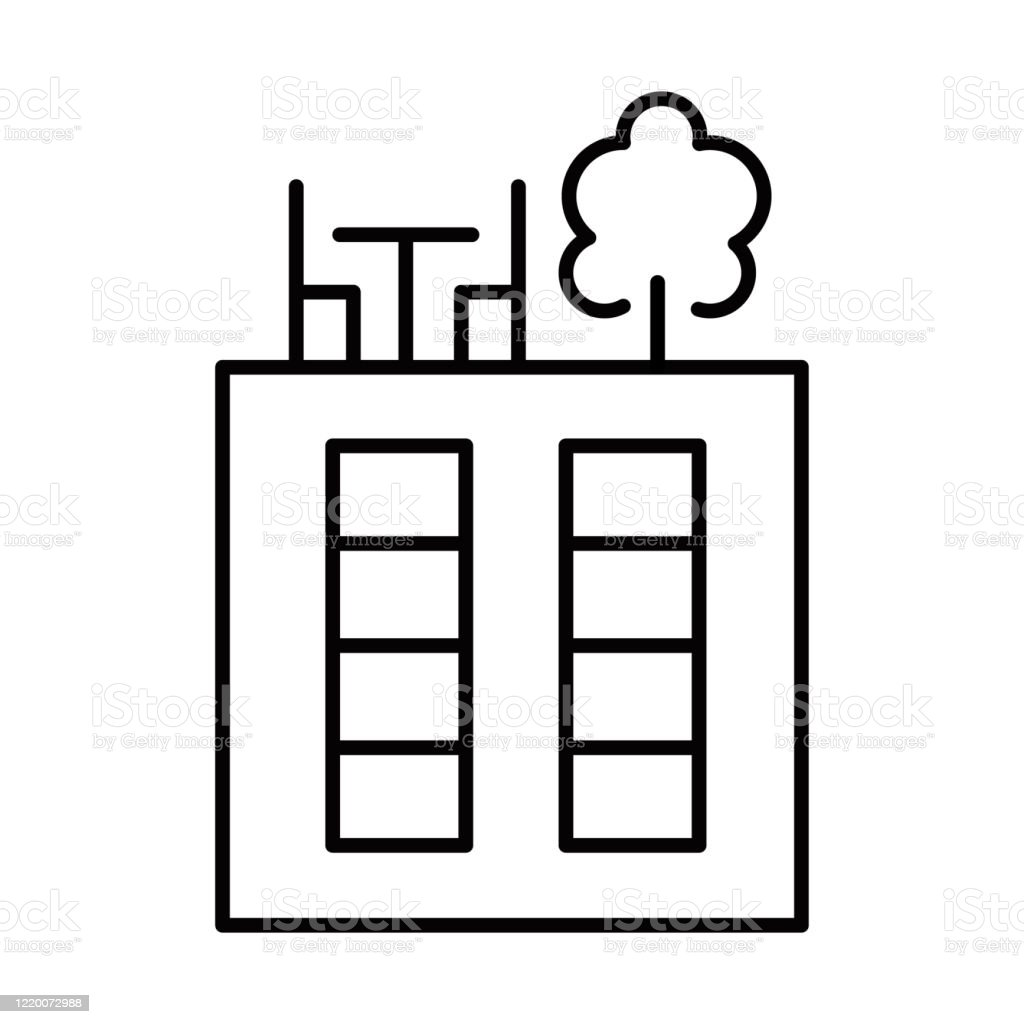 Rooftop Deck Linear Icon Panoramic Terrace Luxurious Penthouse Balcony Garden Space On Roof Sky Park Zone Thin Line Illustration Contour Symbol Vector Isolated Outline Drawing Editable Stroke Stock Illustration Download Image