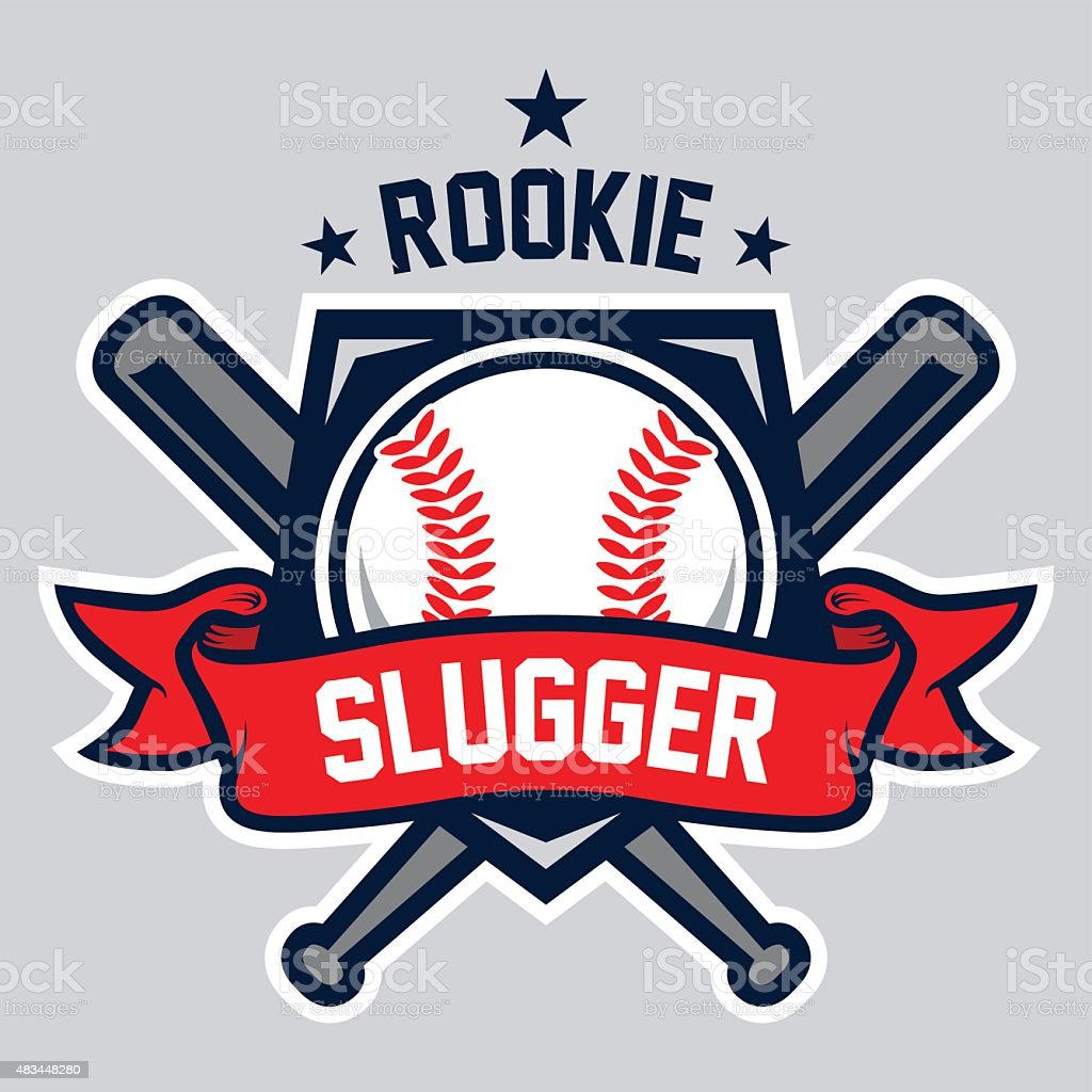 Rookie Slugger Logo Stock Vector Art & More Images Of 2015