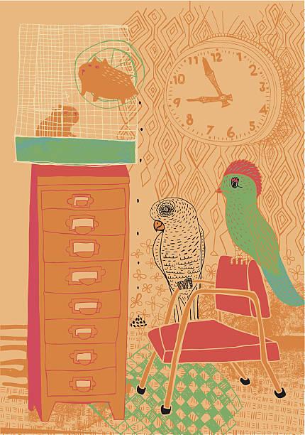 zimmer für haustiere - hamsterhaus stock-grafiken, -clipart, -cartoons und -symbole