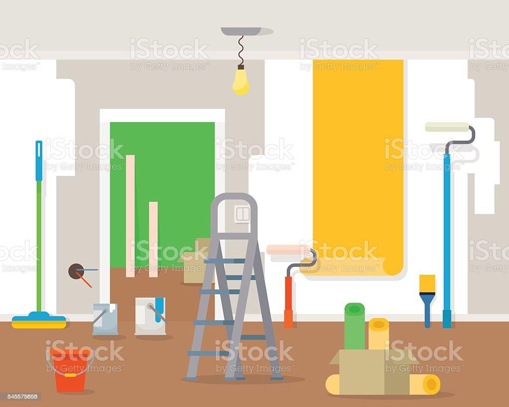 Room repair in home. - Illustration vectorielle