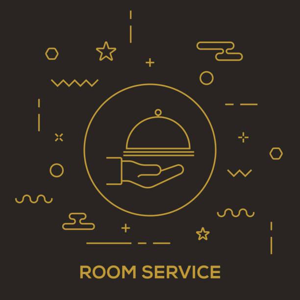 Room Service Concept vector art illustration