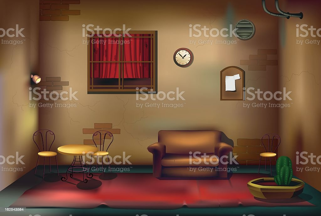 room vector art illustration