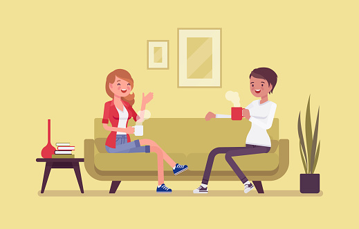 Roommate friends enjoy living together