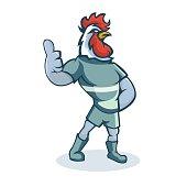 Rooster cartoon mascot design illustration