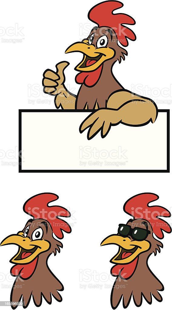 Rooster señal de retención ilustración de rooster señal de retención y más banco de imágenes de ala de animal libre de derechos