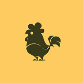 vector illustration of rooster icon