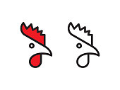 istock Rooster logo 1158423465