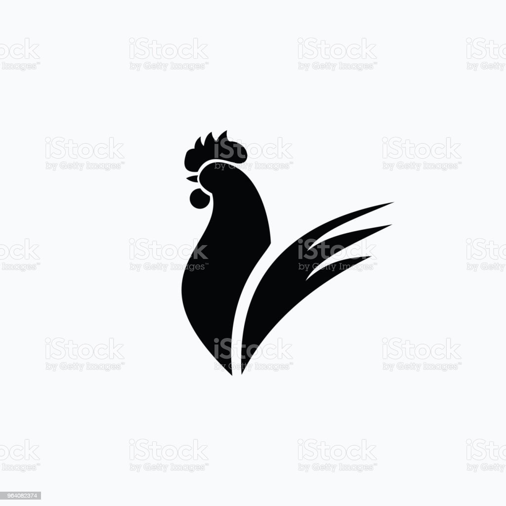 Rooster Logo Vector Template Design - Royalty-free Abstract stock vector