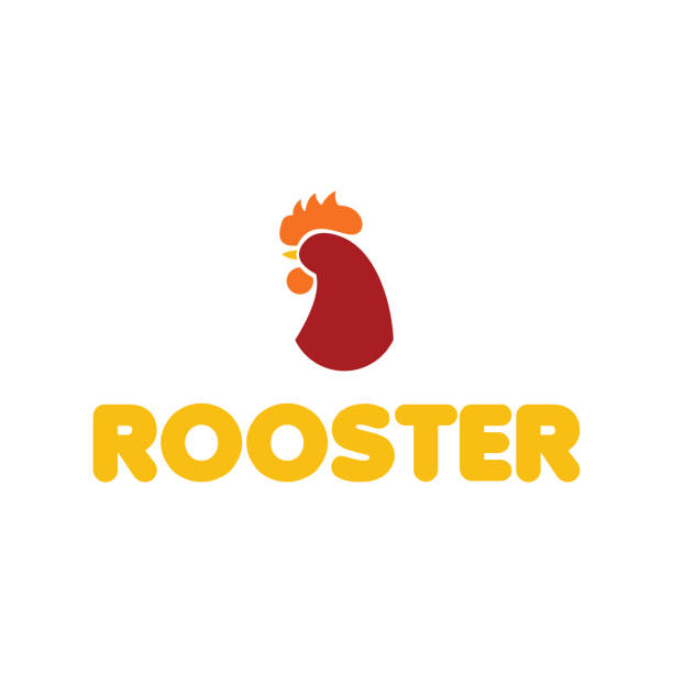 Rooster Logo Vector Template Design Rooster Logo Vector Template Design cockerel stock illustrations