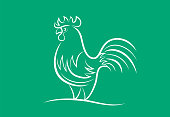 istock rooster symbol 1302240707