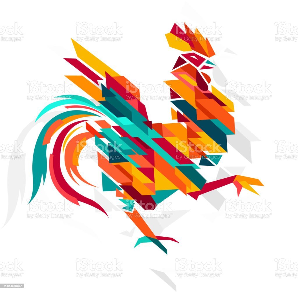 Rooster Symbol vector art illustration