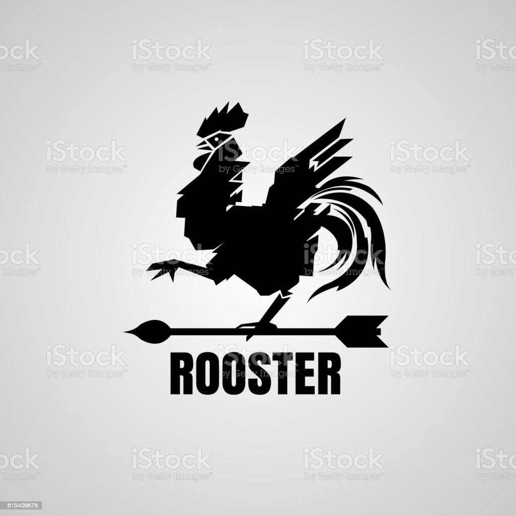 Rooster Symbol. vector art illustration