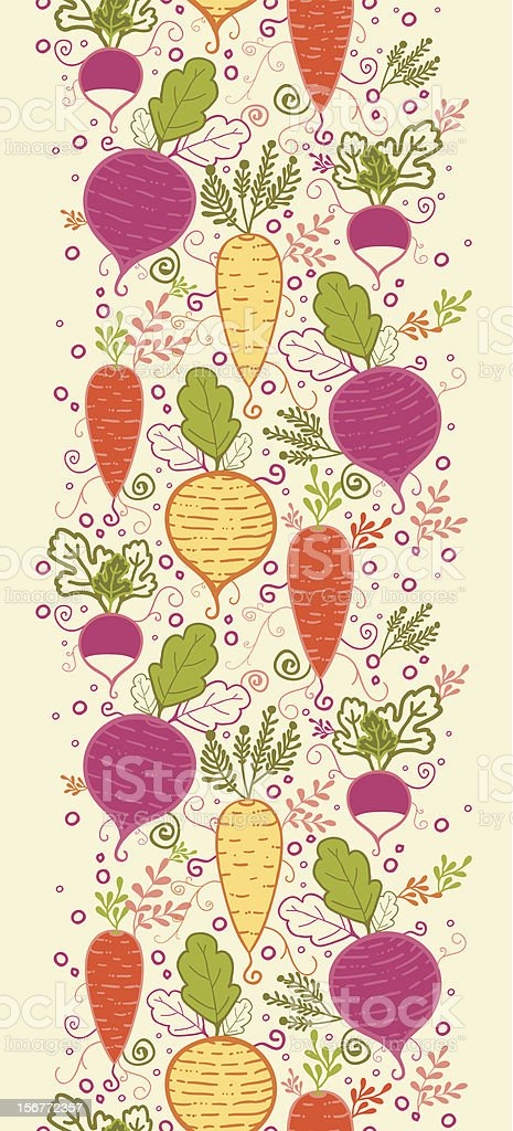 Root Vegetables Vertical Seamless Pattern Ornament royalty-free root vegetables vertical seamless pattern ornament stock vector art & more images of backgrounds