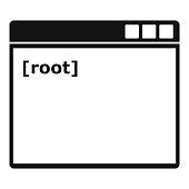 Root window icon, simple style