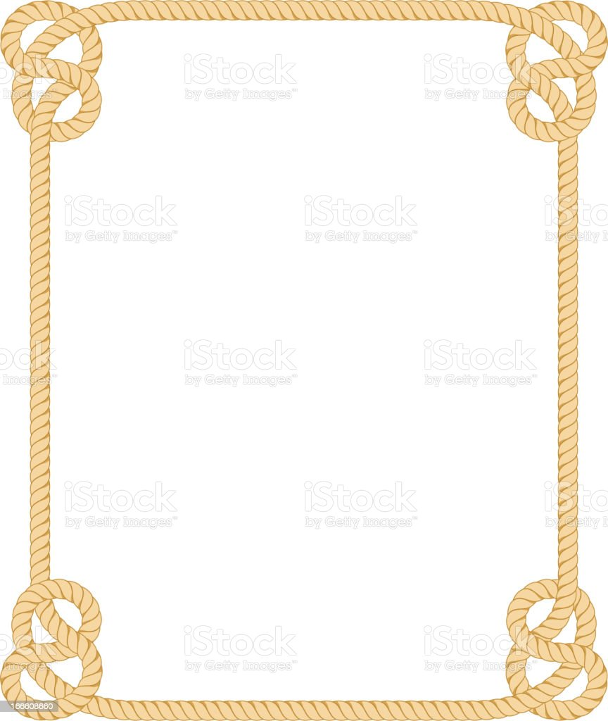 rope border stock vector art more images of brown 166608660 istock rh istockphoto com free western rope border clip art nautical rope border clip art