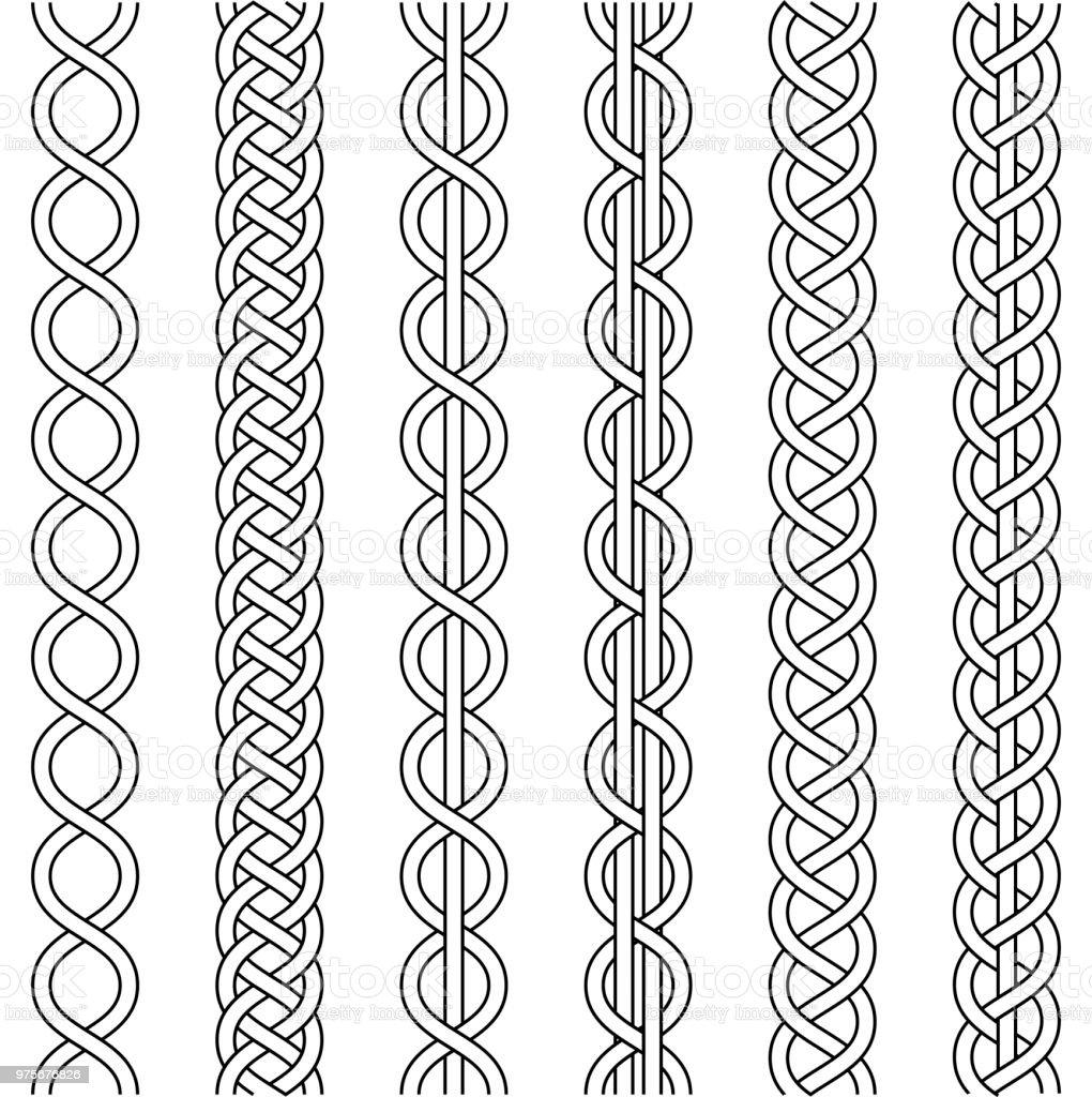 Ilustración de Cuerda De Cable Tejido Nudo Trenza Trenzado Macrame ...