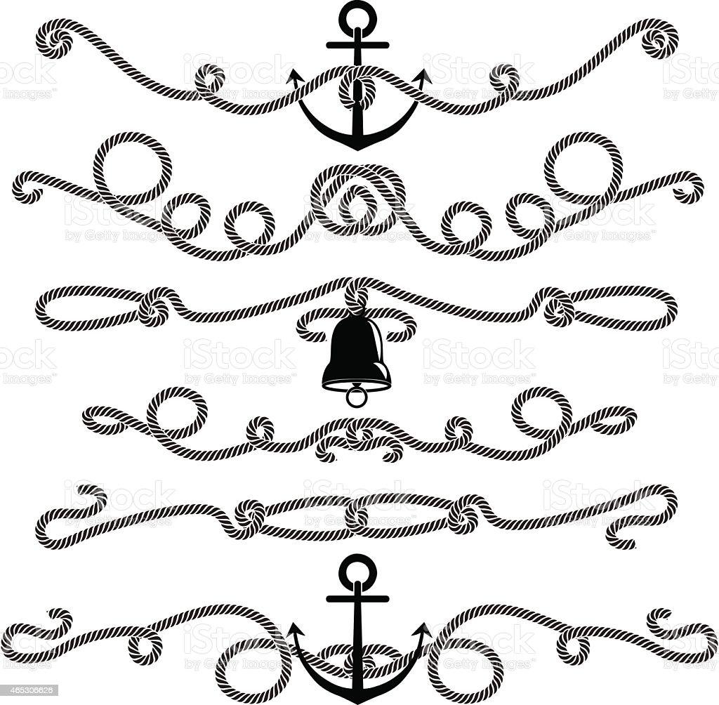 Rope elements vector art illustration