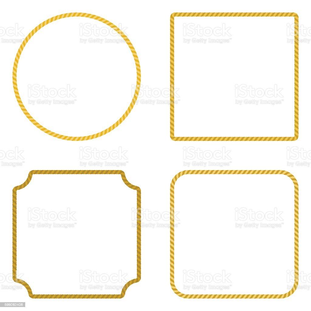 Rope Frame, Vector. vector art illustration