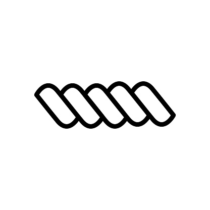 Rope icon flat vector template design trendy