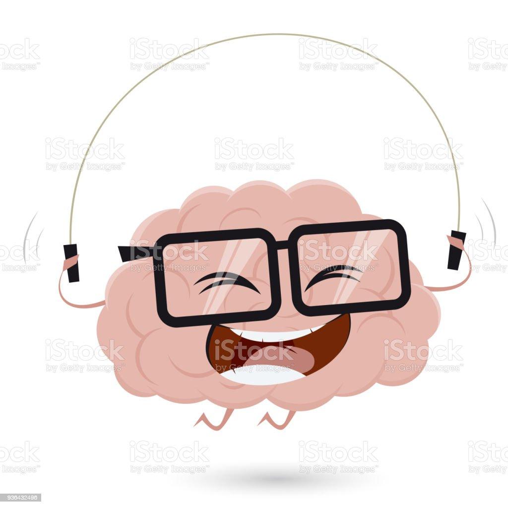 Seil Springen Gehirn Clipart Stock Vektor Art und mehr Bilder von ...