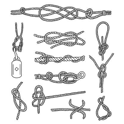 Rope Knots Doodle Set