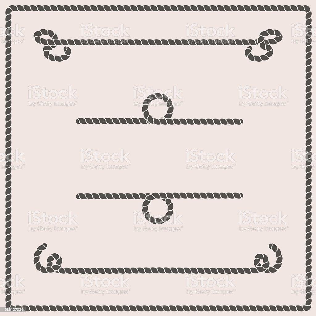 Rope knots vector illustration vector art illustration