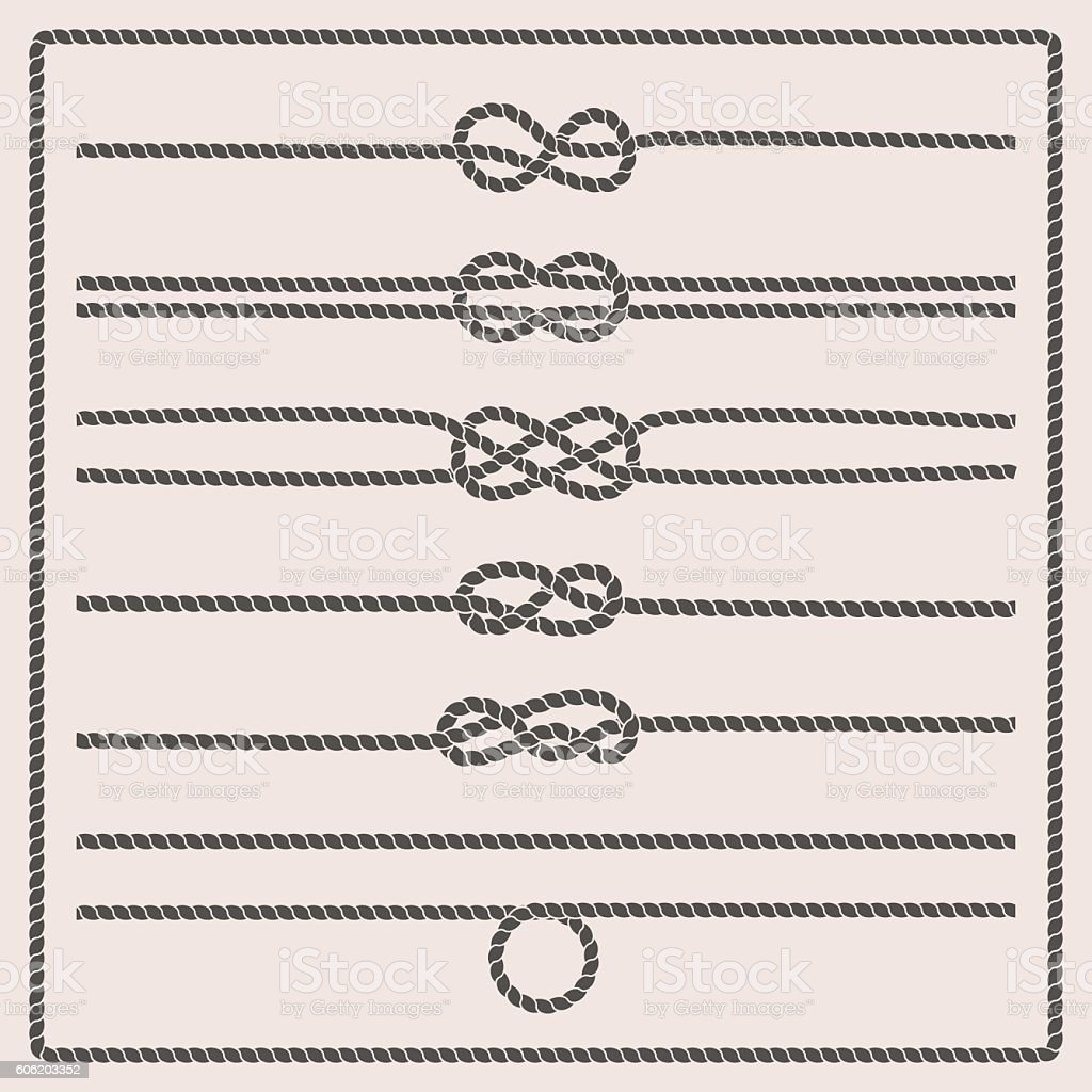 Rope knots vector illustration royalty-free rope knots vector illustration stock illustration - download image now