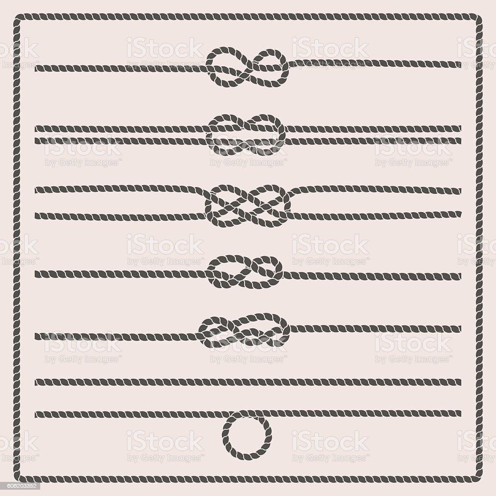 Rope knots vector illustration