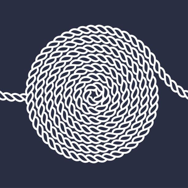 seil spirale nahtlose muster - kabelskulpturen stock-grafiken, -clipart, -cartoons und -symbole
