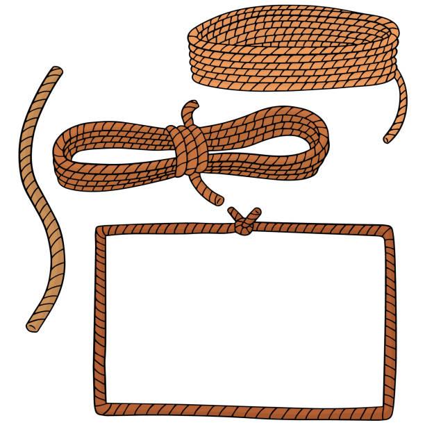 stockillustraties, clipart, cartoons en iconen met touw - touw