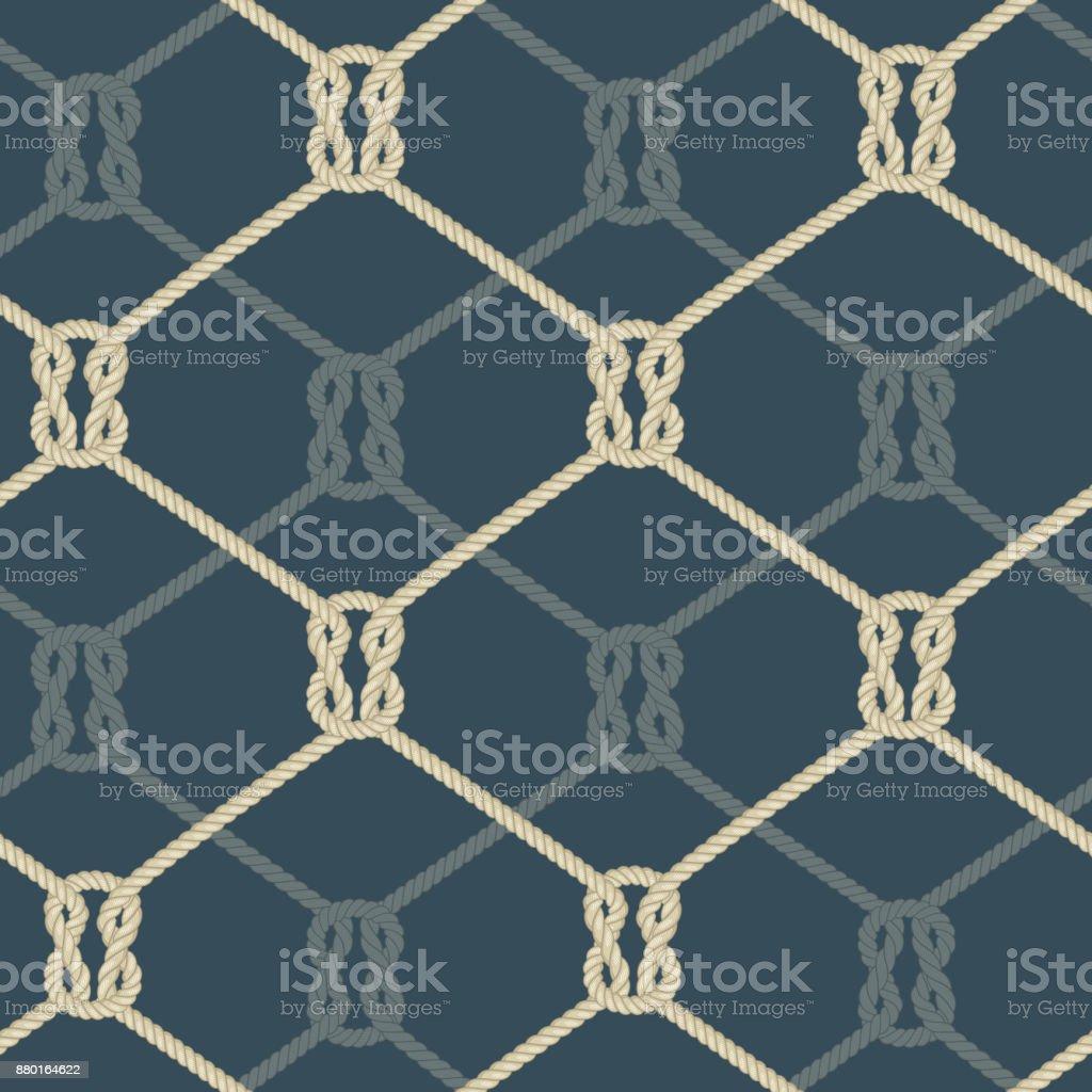 Ropes background blue vector art illustration