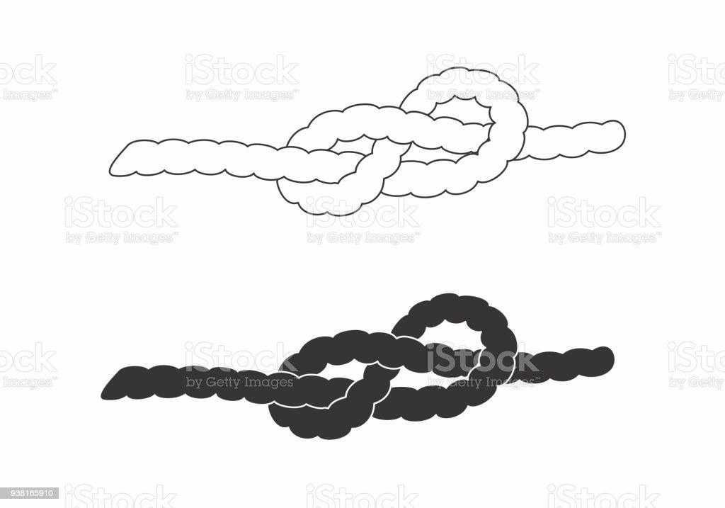 Klettergurt Seil Befestigen : Seile mit knoten stock vektor art und mehr bilder von befestigen