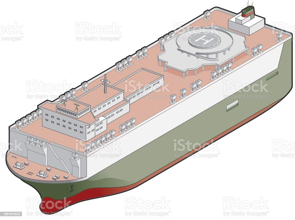 Ro-Ro Ship Icon. Design Elements vector art illustration