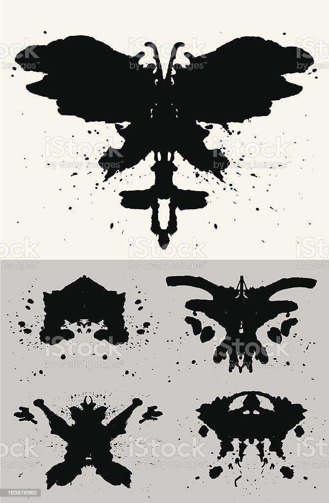 Rorschach Set royalty-free rorschach set stock vector art & more images of black color
