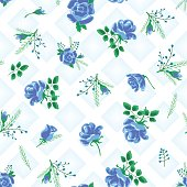 rose abstract flowers blue-01